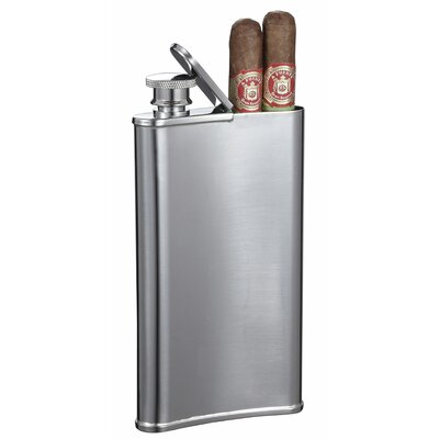 Edian Hip Flask with Built-in Cigar Holder