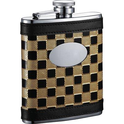 Ramses Checker Stainless Steel Hip Flask VF2060