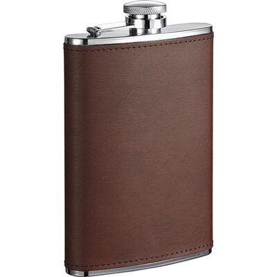 Kenton Leatherette Stainless Steel Hip Flask VF1279