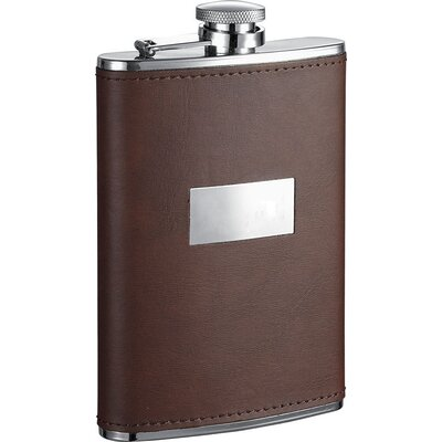 Leather Stainless Steel Hip Flask VF1271
