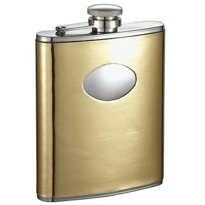 Foxy Leatherette Stainless Steel Hip Flask VF1321