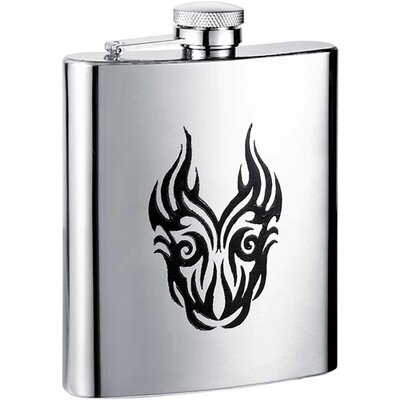 Tattoo Stainless Steel Hip Flask VF1231