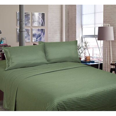 400 Thread Count Cotton and Polyester Sheet Set Color: Sage, Size: Queen