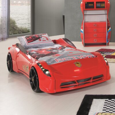Twin Car Bed Color: Red