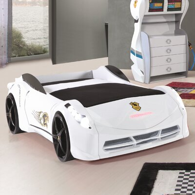 Twin Car Bed Color: White