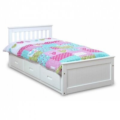 Mission Cabin Twin Storage Platform Bed Color: White