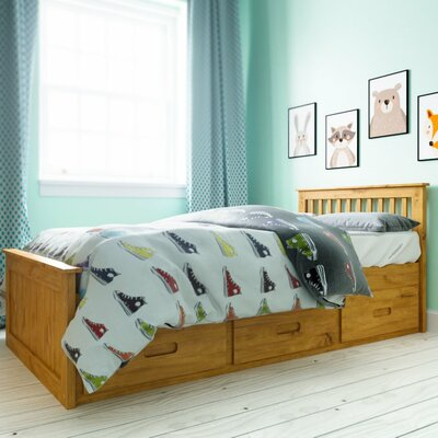 Mission Cabin Twin Storage Platform Bed Color: Wax