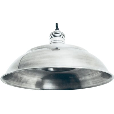 Graphite 1-Light Bowl Pendant