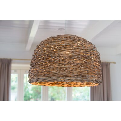 Rotan 15 Wooden Bowl Pendant Shade