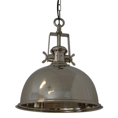 Kennedy 1-Light Bowl Pendant Finish: Nickel