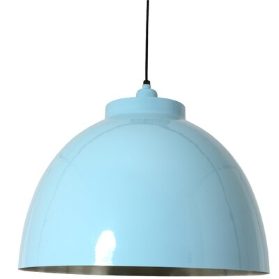 Kylie 1-Light Bowl Pendant Shade Color: Blue