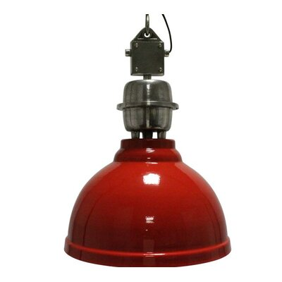 Clinton 1-Light Bowl Pendant Shade Color: Red