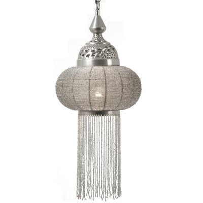 Latifa 1-Light Pendant Shade Color: Clear