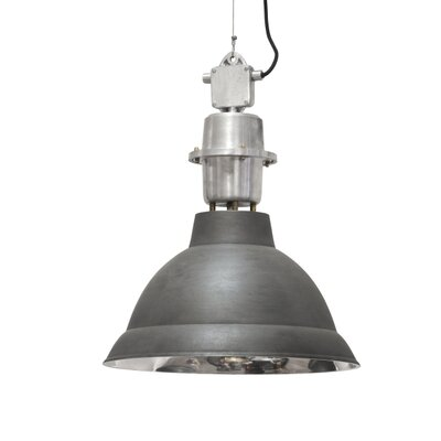 Lincoln 1-Light Pendant Finish: Matte Black/Brushed Nickel