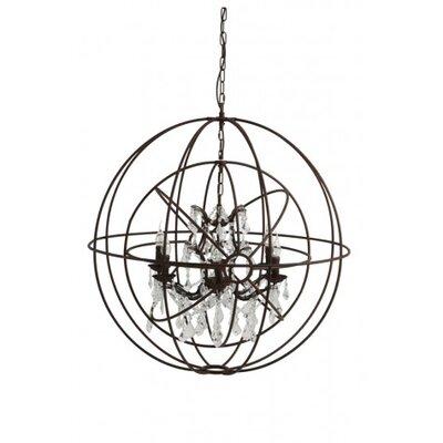 Engelier 4-Light Globe Pendant Size: 38 H x 36 W x 36 D