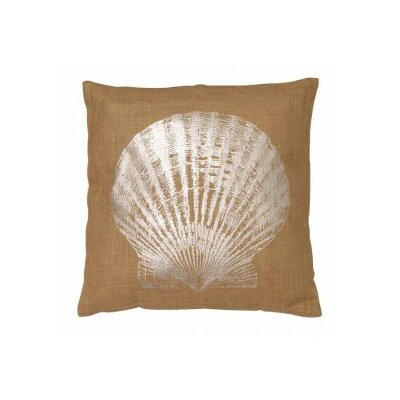 Seashell Jute Throw Pillow