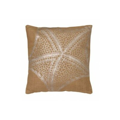 Starfish Jute Throw Pillow