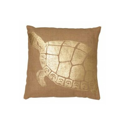 Turtle Jute Throw Pillow