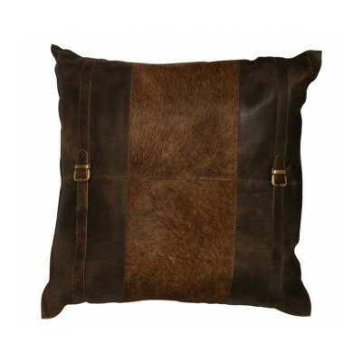 Country Cow Skin Leather Throw Pillow