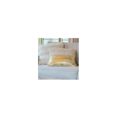 Line Throw Pillow Color: Gold