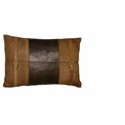 Country Cow Skin Leather Lumbar Pillow Color: Light Brown