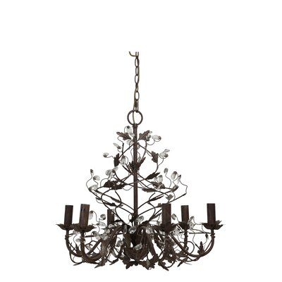 Evita 6-Light Candle-Style Chandelier