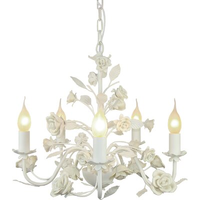 Elvira 5-Light Candle-Style Chandelier