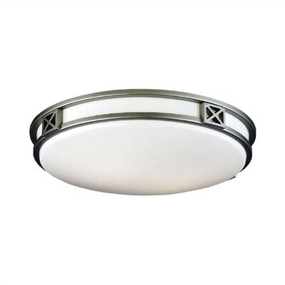 Crossroads 2-Light Flush Mount Size: 4 H x 16 W x 16 D, Fixture Finish: Glacier Silver