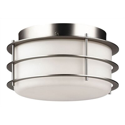 Hollywood Hills 2-Light Flush Mount Finish: Metallic Silver