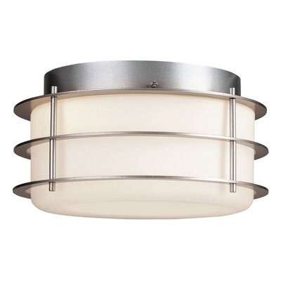 Amberlee 2-Light Flush Mount Finish: Vista Silver