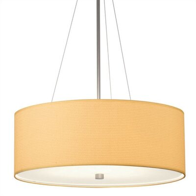 Taylor 24 Drum Pendant Shade Shade Finish: White Grasscloth