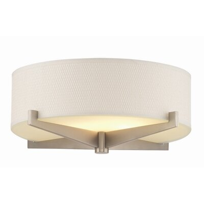 Organic Modern Fisher Island Flush Mount Shade Finish: White Grasscloth