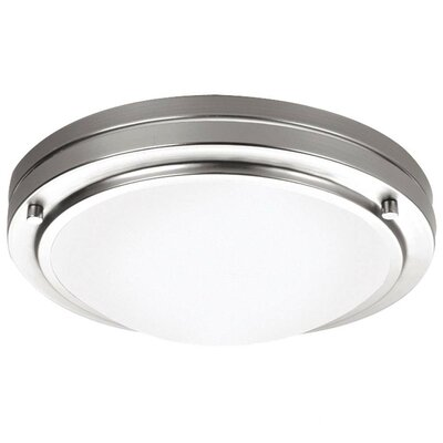 West End Glass Flush Mount Size / Finish: 4 H x 13.5 W / Satin Nickel