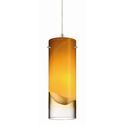 Crete 3.63 Glass Drum Pendant Shade Shade Color: Amber
