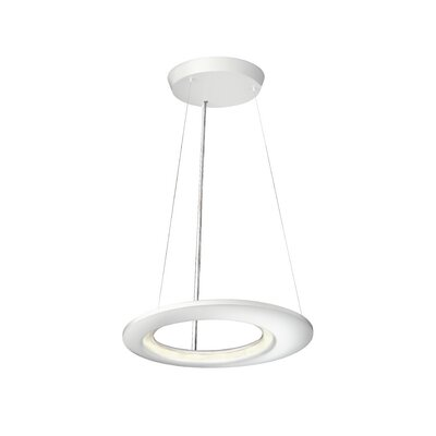 Ecliptic 12-Light Kitchen Island Pendant Finish: Matte White