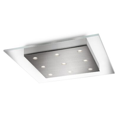 Matrix 9-Light Flush Mount Shade Color: Clear