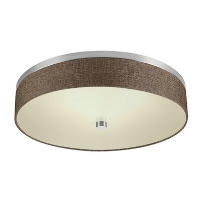Chelsea Flush Mount Shade Color: Brown