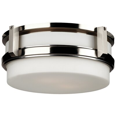 27Th Street 2-Light Flush Mount Finish: Satin Nickel