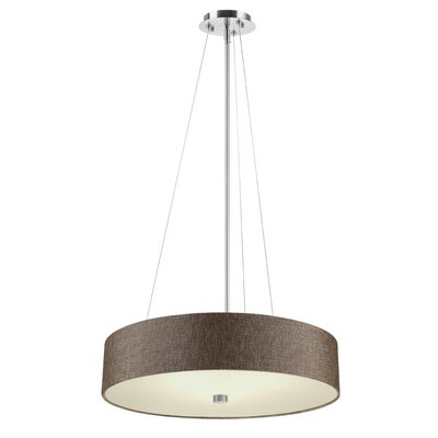 Chelsea Drum Pendant Shade Color: Brown
