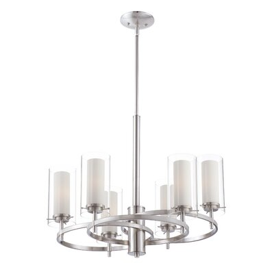 Hula 6-Light Candle-Style Chandelier Finish: Satin Nickel