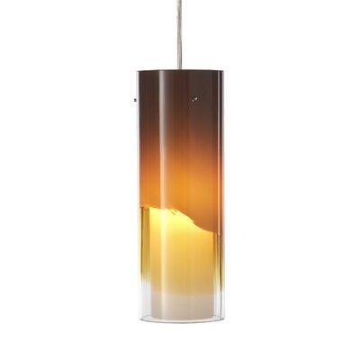 Capri 1-Light Mini Pendant Shade Color: Amber