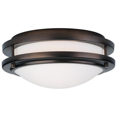 Belfield 1-Light Flush Mount Fixture Finish: Merlot Bronze