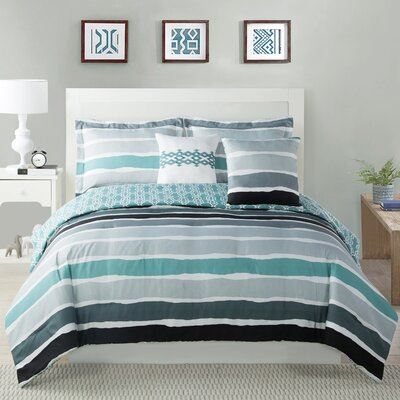 Tie Dye Striped Comforter Set Size: Full/Queen