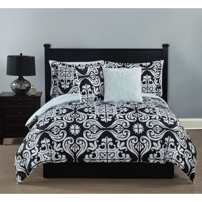 Fitzgerald 5 Piece Comforter Set Size: King
