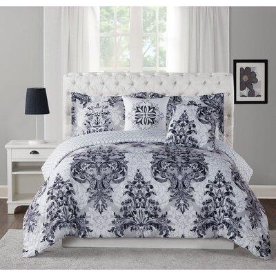 Simone 5 Piece Comforter Set Size: King