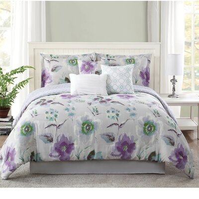 Mariana 7 Piece Comforter Set Size: King
