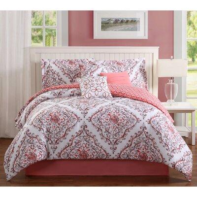 Perla 7 Piece Reversible Comforter Set Size: King