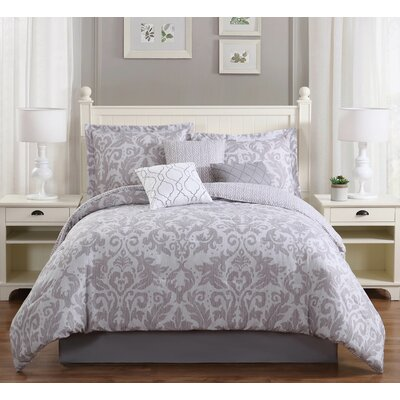 Welford 7 Piece Reversible Comforter Set Size: King