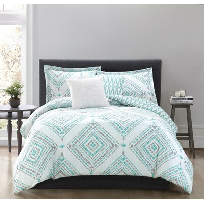 Jericho 5 Piece Reversible Comforter Set Size: King