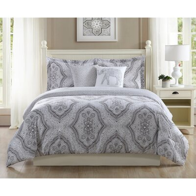 Kyra 5 Piece Reversible Comforter Set Size: Full/Queen